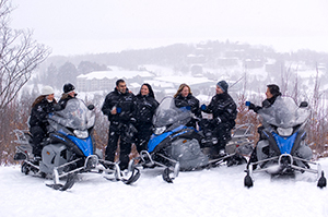 Deerhurst Resort snowmobile viewpoint