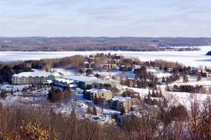 Deerhurst Resort winter viewpoint