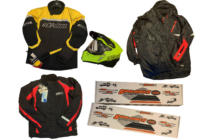 Prizes - 3 Jackets - a helmet and tickets